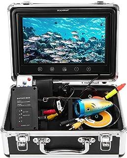 Lixada Portátil de 7inch Monitor de Pulgadas 1000TVL Equipo de Cámara de Pesca Submarina Impermeable 24PCS LED Infrarrojos Buscador de Peces