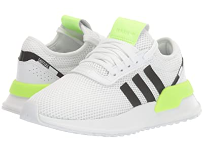 adidas Originals Kids U_Path X (Big Kid) (White/Black/Signal Green) Kids Shoes
