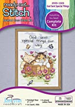 The Janlynn Corporation Ready, Set.Stitch God Sent Special Things Counted Cross Stitch Kit