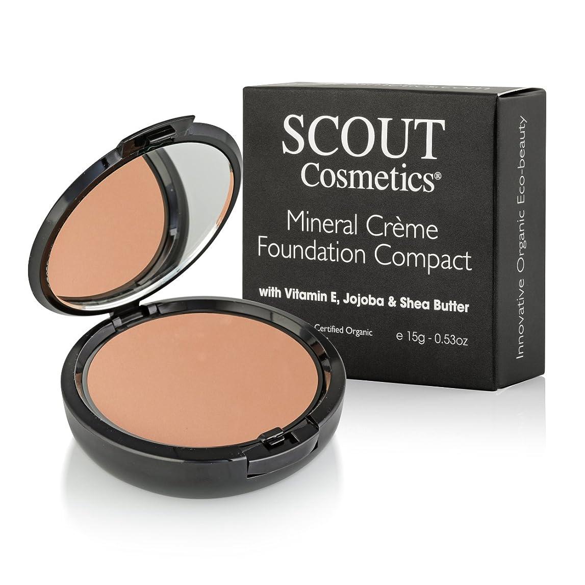 チチカカ湖グレード土曜日SCOUT Cosmetics Mineral Creme Foundation Compact SPF 15 - # Almond 15g/0.53oz並行輸入品