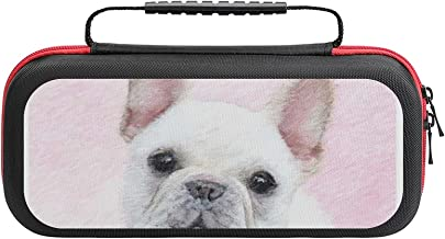 French Bulldog Case Compatible with Switch Case Protective Carry Bag Hard Shell Storage Bag Portable Travel Case for Switc... photo