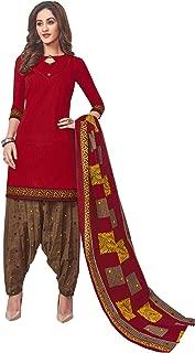 Jevi Prints Women's Cotton Printed Readymade Stitched Salwar Suit Dupatta (SUIT_CP-229)