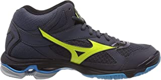 MIZUNO V1GA186547 Wave Bolt 7 MD Men's Volleyball Shoes, Ombre Blue/Yellow/Ocean 001