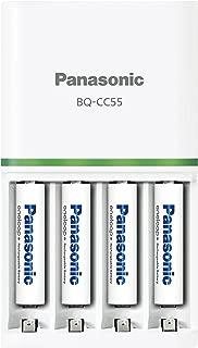 パナソニック エネループ 急速充電器セット 単4形充電池 4本付き スタンダードモデル K-KJ55MCC04