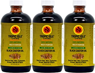 Tropic Isle Living Jamaican Black Castor Oil 8 oz (Pack of 3)