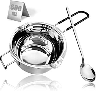 600ML 304 Stainless Steel Double Boiler Chocolate Melting Pot, Melting Pot with Large Serving Spoon for Butter Candy Butte...