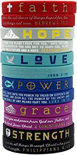 hope faith love silicone bracelet