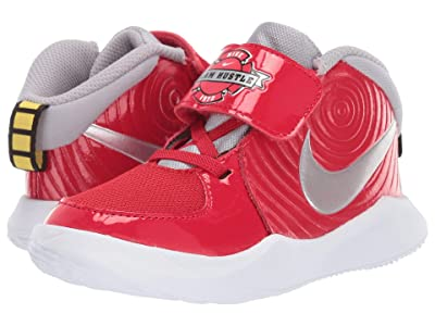 Nike Kids Team Hustle D 9 Auto (Infant/Toddler) (University Red/Metallic Silver/Wolf Grey) Kids Shoes