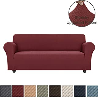 Obytex Stretch Sofa Cover Polyester and Spandex Upgrade Pattern Couch Covers Dog Cat Pet Slipcovers Furniture Protectors,Machine Washable