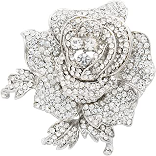Best rhinestone rose brooch Reviews