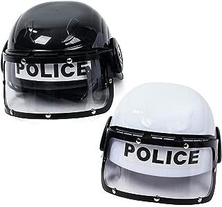 Tigerdoe Police Hat Kids - 2 Pack Police Hat - Police Helmet for Kids - Swat Helmet - Police Costume for Kids