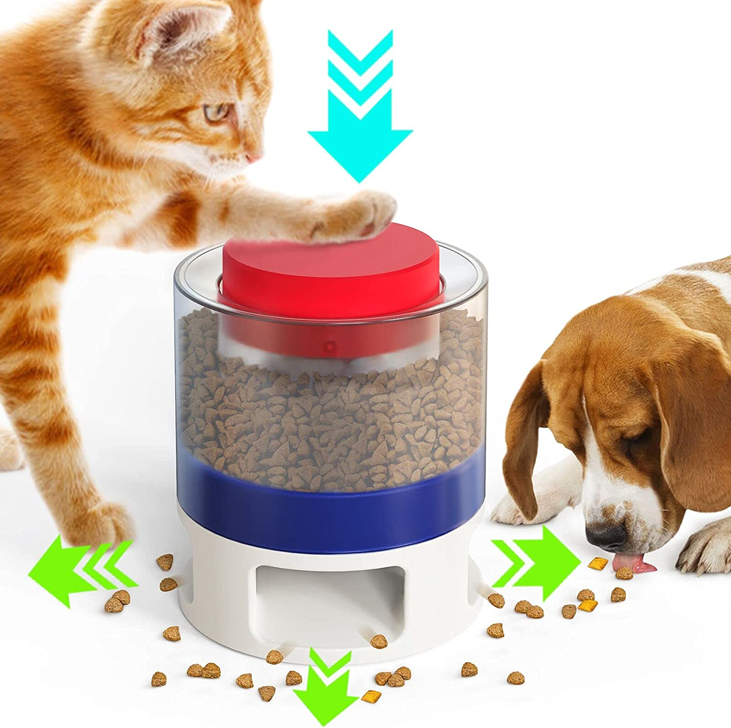 Automatic Dog Feeder Courier shipping free shipping - Press cheap Feeders Interactive Slow Toy Food