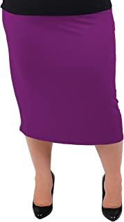 Women's Plus Size Comfortable Soft Stretch MIDI Skirt