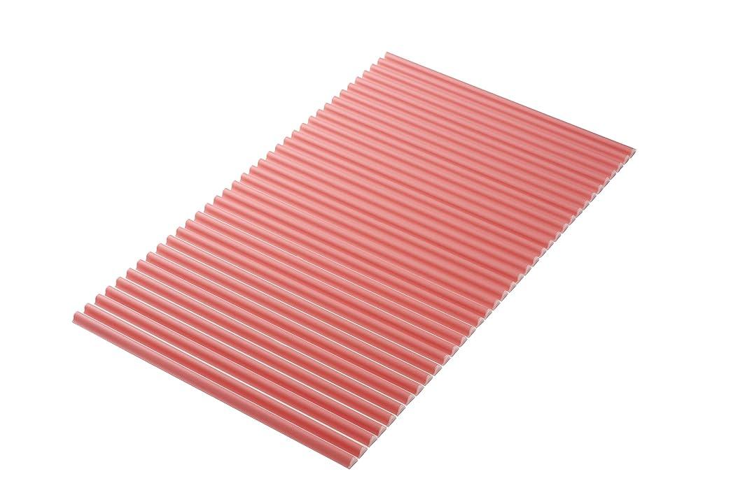 効率的に誓約レベル東プレ 風呂ふた カラーウェーブ イージー ウェーブ 波形 ピンク 75×119cm L12
