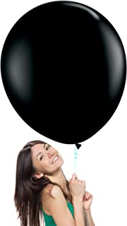 36 Inch (3 ft) Giant Jumbo Latex Balloons (Premium Helium Quality), Pack of 6, Regular Shape - Onyx Black, for Photo Shoot/Birthday/Wedding Party/Festival/Event/Carnival
