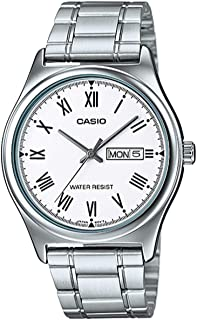 Casio MTP-V006D-7BUDF Stainless Steel Mens Watch White Dial