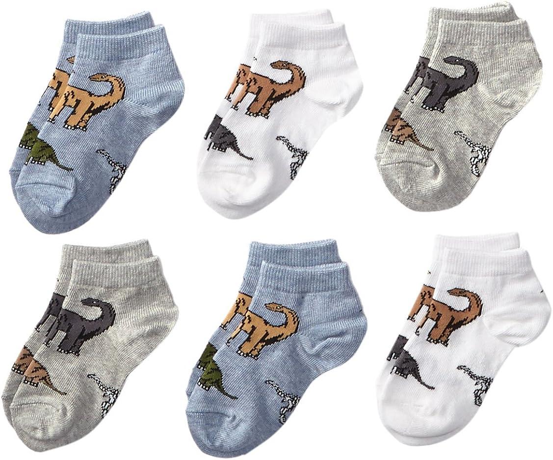 Jefferies Socks Baby Boys Dinosaur Low Cut 6 Pair Pack
