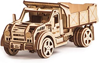 Wood Trick American Jeep Truck Model Kit with Functional Moving Body - 3D Wooden Puzzle, Assembly Toys, ECO Wooden Toys, Best DIY Toy - STEM Toys for Boys and Girls