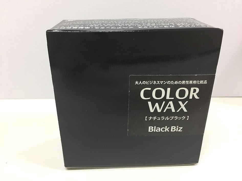 付属品変化する恨み大人のビジネスマンのための男性専用化粧品 BlackBiz COLOR WAX ブラックビズ カラーワックス 【ナチュラルブラック】