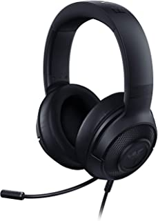 Razer Kraken X Ultralight Gaming Headset: 7.1 Surround Sound Capable on PC Only - Lightweight Frame - Bendable Cardioid Microphone - for PC, Xbox, PS4, Nintendo Switch - Matte Black