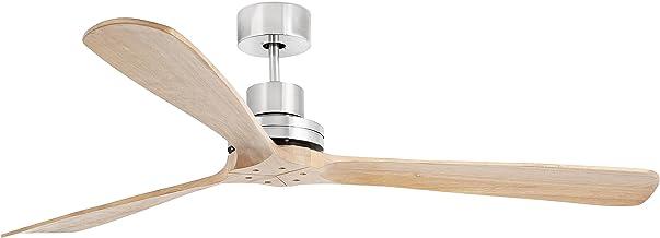 Faro Barcelona 33504 - LANTAU-G Ventilateur de plafond nickel mat/pin