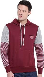 GHPC Plain Solid Sweatshirt Jacket Full Sleeves Slim Fit Hoodies for Men