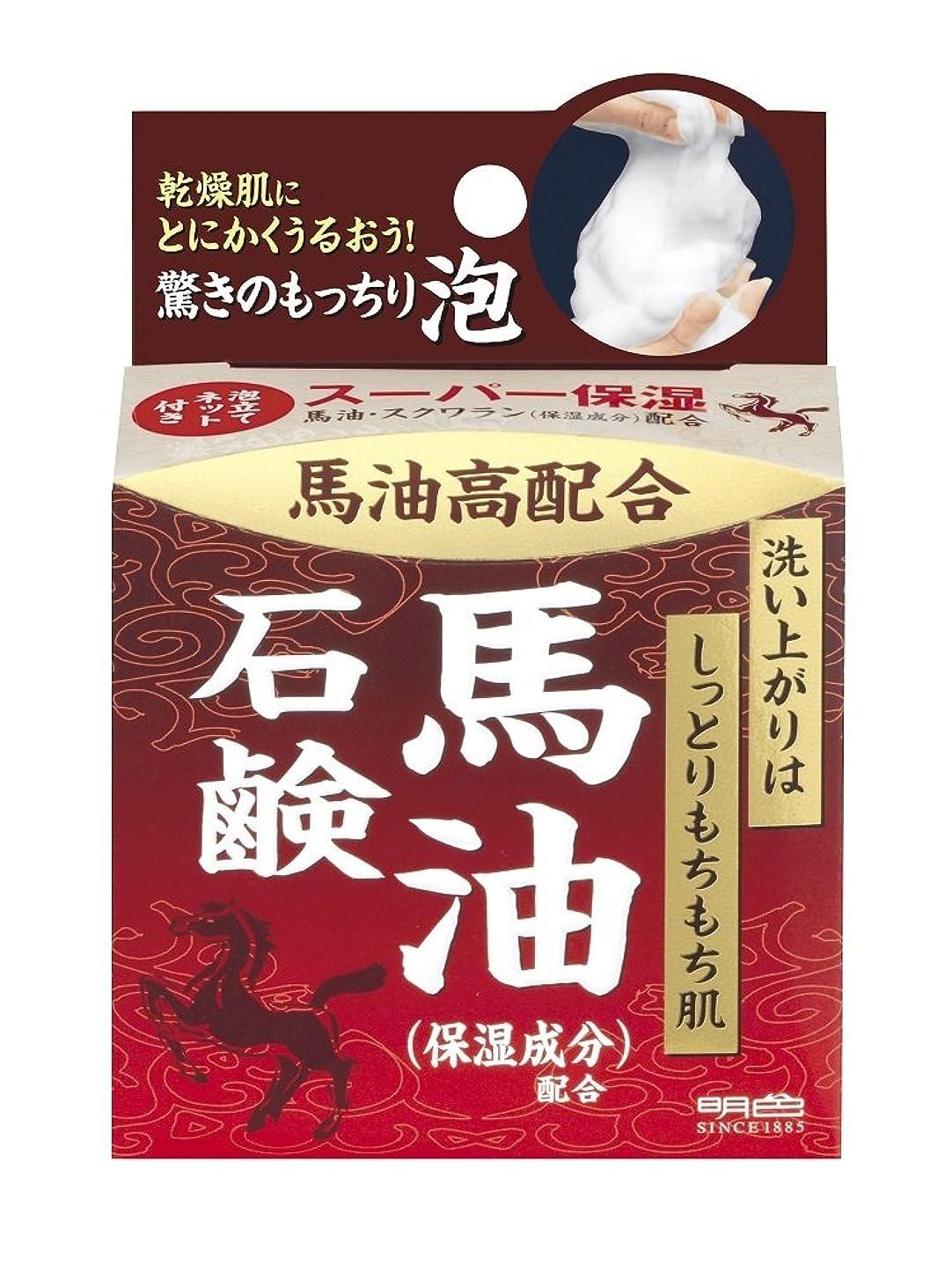 アンビエント植物のヒギンズ明色化粧品 うるおい泡美人 馬油石鹸 80g