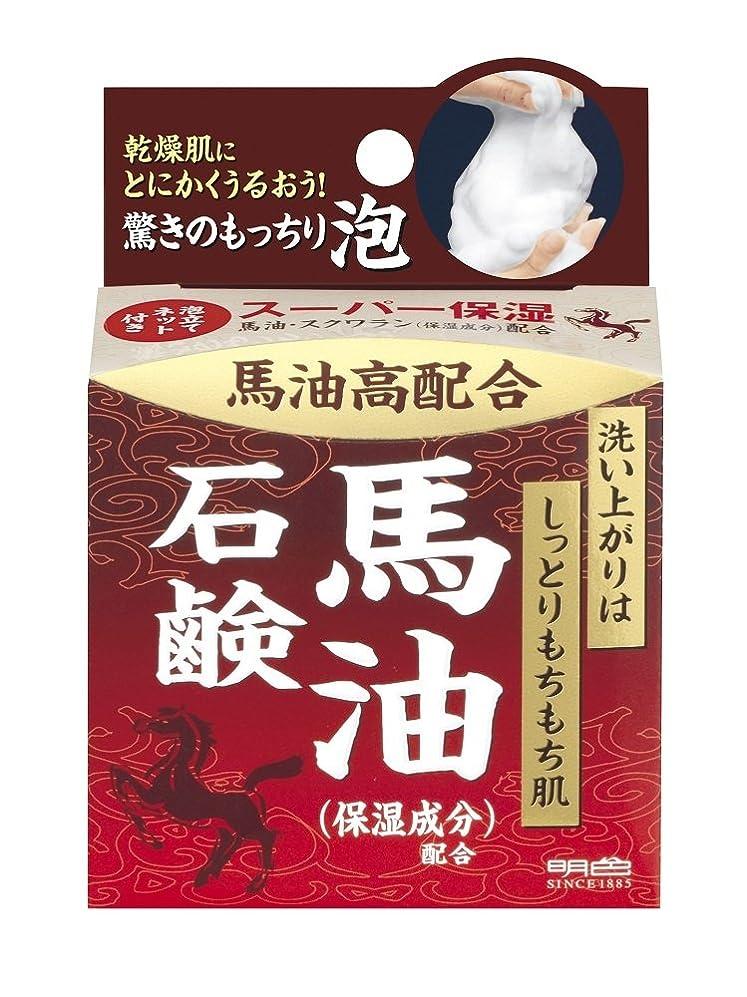 シュリンク植物学者国明色化粧品 うるおい泡美人 馬油石鹸 80g