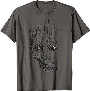 Marvel Guardians Vol. 2 Groot Lines Face T-Shirt