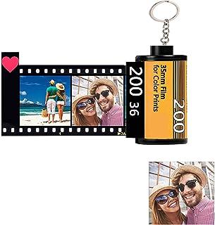 Portachiavi Personalizzato con Foto x 10 & Testo, Portachiavi Colorato con Pellicola per Fotocamera Personalizzata Bobina ...