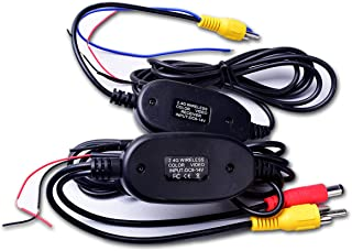 Wireless Video Cable w/Backup Trigger Wire Tx & Rx for RCA Rear View Camera to GPS Navi, Headunit, Monitor LCD Screen 12V,