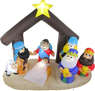 Northlight 5.5' Inflatable Nativity Scene Lighted Christmas Outdoor Decoration
