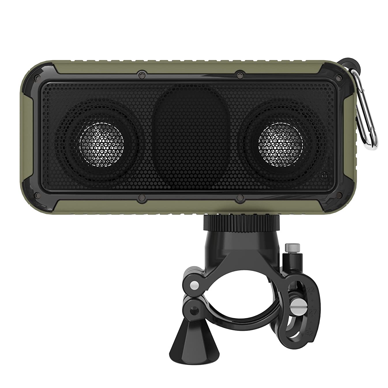 MQHY Bathroom Shower Led Lighting Can Bubble Water Bluetooth Speakers Outdoor Sports Ride Climbing Waterproof Lighting Audio Square Usb Charging Can Call Nfc Function Music Subwoofer,Army green