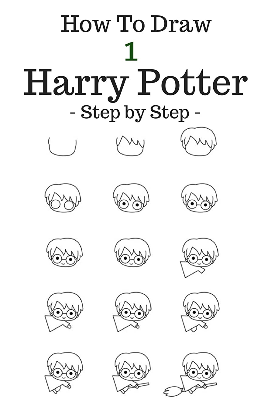 ラボ不器用能力How to draw Harry Potter: Step by Step To Draw Cartoon Character:( Harry, Hermione, Ron, Hagrid, Malfoy, Dobby, Hedvig Basic (Volume 1)) (English Edition)