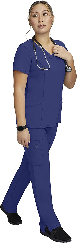 Women's Scrubs Set Oakland Mall - 2 Pocket wi Scrub Tulip Top Notch A surprise price is realized Neck