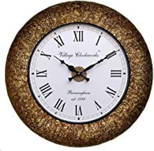 RoyalsCart Decorative Wooden Analog Wall Clock, Multi