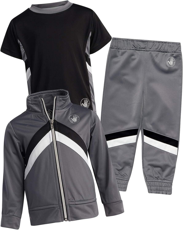Body Glove Baby Boys' Playwear Set - Fleece Zip Sweatshirt, T-Shirt, and Sweatpants