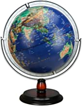 12 Inch World Map,LED Lights Rotating Globe Decoration in Office and House Globe Lamp-for Children Gift