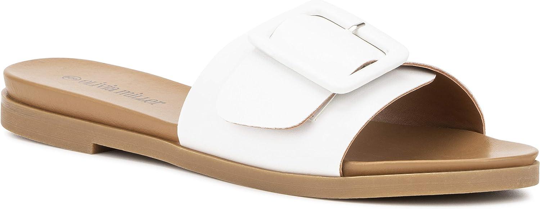 Olivia Miller Women's Shoes, Carmen Buckle Wide Strap Singl