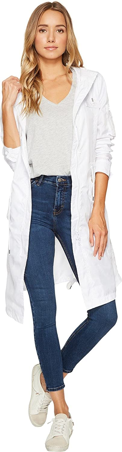 Members Only Women's Parachute Parka-White