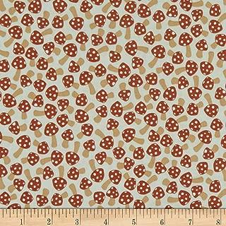 Robert Kaufman Berry Season Mushrooms Desert Green Fabric Fabric by the Yard