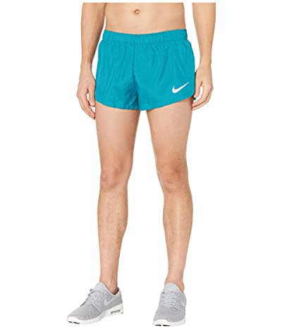 Nike 2 Lined Running Shorts (Bright Spruce/Reflective Silver) Men