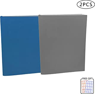 2 Pack Stretchable Jumbo Book Covers, Washable Durable Reusable Book Protector fits Hardcover Textbooks up to 9.5