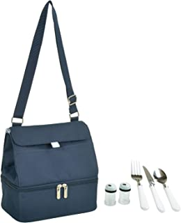 Picnic at Ascot Fashion Insulated Lunch Bag With Service For One, Navy