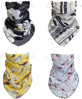 Luxina 6 pcs Men Women Face Neck Bandana with Ear Loops Balaclava Neck Gaiters Face Neck Scarf for Sun Dust Wind Motorcycle Fishing Running Stylish Face Neck Cover