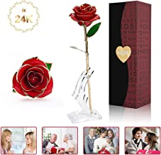 rose gold roses in a box