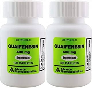 Mucus Relief Guaifenesin 400 mg 200 Tablets Generic for Mucinex Chest Congestion Immediate Release