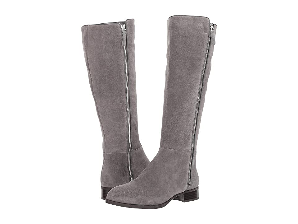 Nine West Nihari Tall Boot (Dark Grey Suede) Women