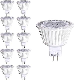 10 Pack Bioluz LED MR16 LED 50W Halogen Equivalent Dimmable 7w 3000K 12v AC/DC UL Listed