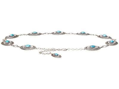 Ariat Turquoise Concho Chain Belt (Silver) Women